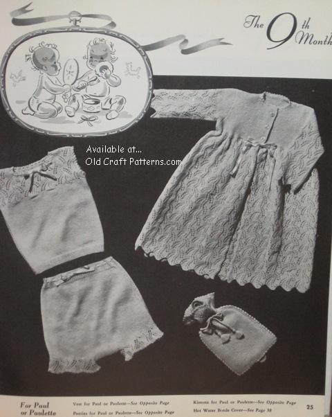 Girls Free Knitting Patterns : Vintage Patons Baby Knitting Patterns images